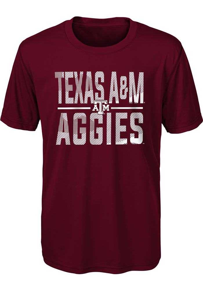 Texas A&M Aggies Youth Maroon Ground Control Short Sleeve T-Shirt - Image 1