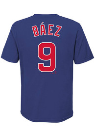 Javier Baez Chicago Cubs Boys Nike Name and Number T-Shirt - Blue