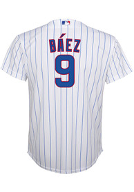 Javier Baez Chicago Cubs Youth Nike 2020 Home Baseball Jersey - White