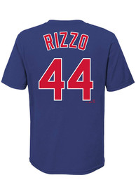 Anthony Rizzo Chicago Cubs Youth Name Number T-Shirt - Blue
