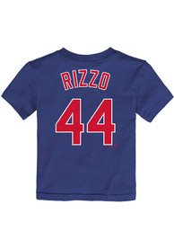 Anthony Rizzo Chicago Cubs Toddler Nike Name and Number T-Shirt - Blue