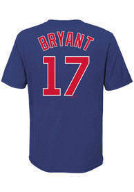 Kris Bryant Chicago Cubs Youth Name Number T-Shirt - Blue