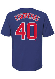Willson Contreras Chicago Cubs Youth Name Number T-Shirt - Blue