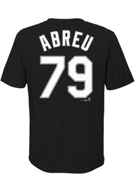 Jose Abreu Chicago White Sox Youth Name and Number T-Shirt - Black