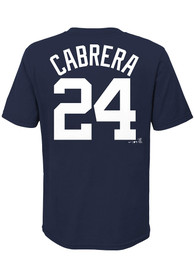 Miguel Cabrera Detroit Tigers Boys Nike Name and Number T-Shirt - Navy Blue