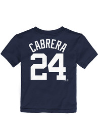 Miguel Cabrera Detroit Tigers Toddler Nike Name and Number T-Shirt - Navy Blue