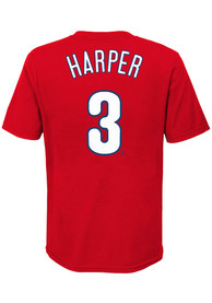Bryce Harper Philadelphia Phillies Boys Nike Name and Number T-Shirt - Red