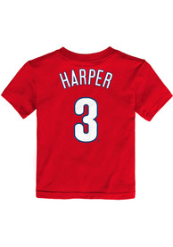Bryce Harper Philadelphia Phillies Infant Nike Name and Number T-Shirt - Red
