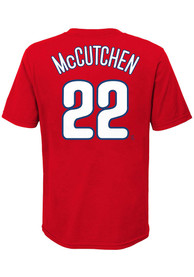 Andrew McCutchen Philadelphia Phillies Youth Name Number T-Shirt - Red