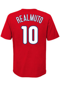 JT Realmuto Philadelphia Phillies Youth Name Number T-Shirt - Red
