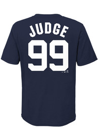 Aaron Judge New York Yankees Youth Name Number T-Shirt - Navy Blue