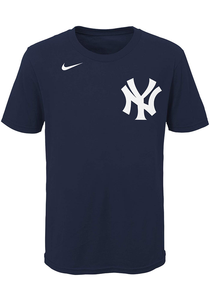 Aaron Judge New York Yankees Youth Navy Blue Name Number Player Tee - Image 2