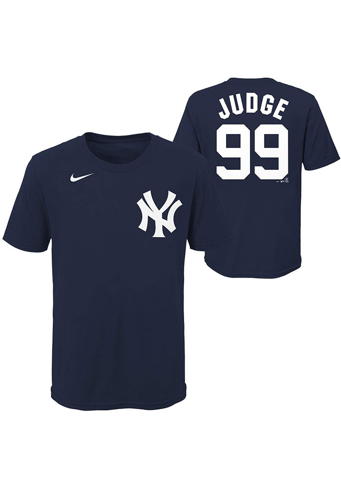 Aaron Judge New York Yankees Youth Navy Blue Name Number Player Tee - Image 3