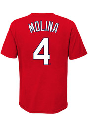Yadier Molina St Louis Cardinals Youth Name Number T-Shirt - Red