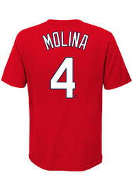 Yadier Molina St Louis Cardinals Boys Nike Name and Number T-Shirt - Red