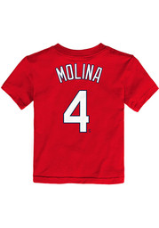 Yadier Molina St Louis Cardinals Toddler Nike Name and Number T-Shirt - Red
