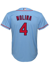 Yadier Molina St Louis Cardinals Youth Nike 2020 Alternate Baseball Jersey - Light Blue