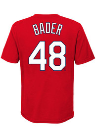 Harrison Bader St Louis Cardinals Boys Red Name Number T-Shirt