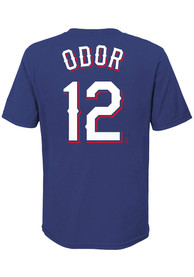 Rougned Odor Texas Rangers Youth Name Number T-Shirt - Blue