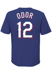 Rougned Odor Texas Rangers Youth Name and Number T-Shirt - Blue