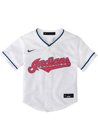 Cleveland Indians Baby Nike 2020 Home Baseball Jersey - White