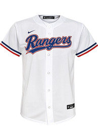 Texas Rangers Youth Nike 2020 Home Baseball Jersey - White