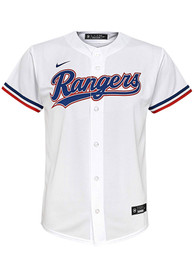 Texas Rangers Boys Nike 2020 Home Baseball Jersey - White