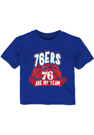 Philadelphia 76ers Infant Bubble Trouble T-Shirt - Blue