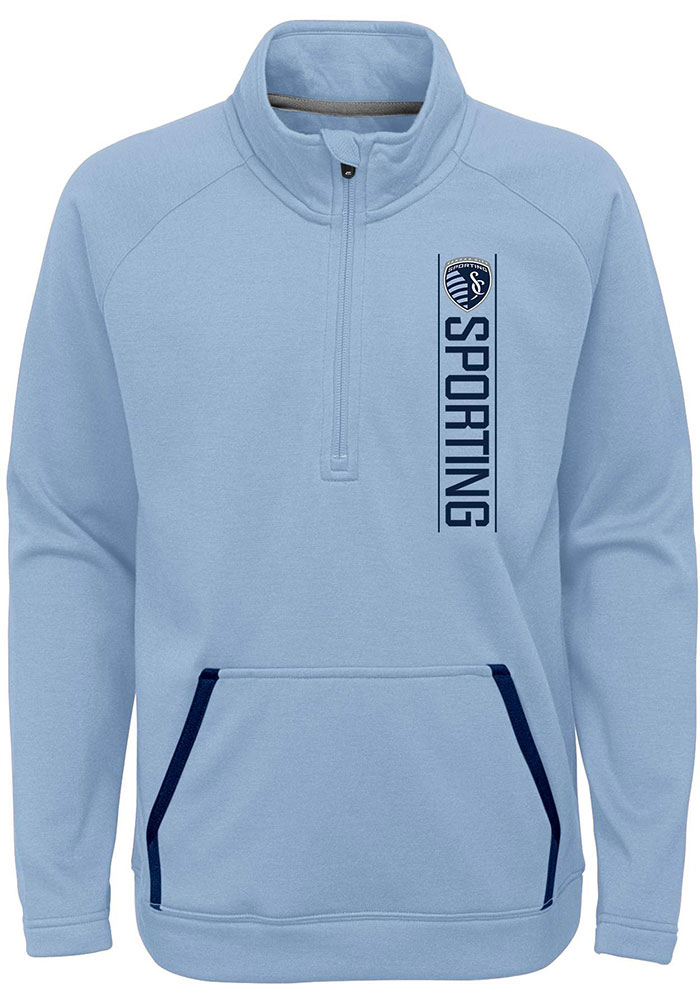 Sporting Kansas City Youth Light Blue Stealth Mode Long Sleeve Quarter Zip Shirt - Image 1