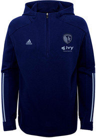 Sporting Kansas City Youth Warm Up Quarter Zip - Navy Blue