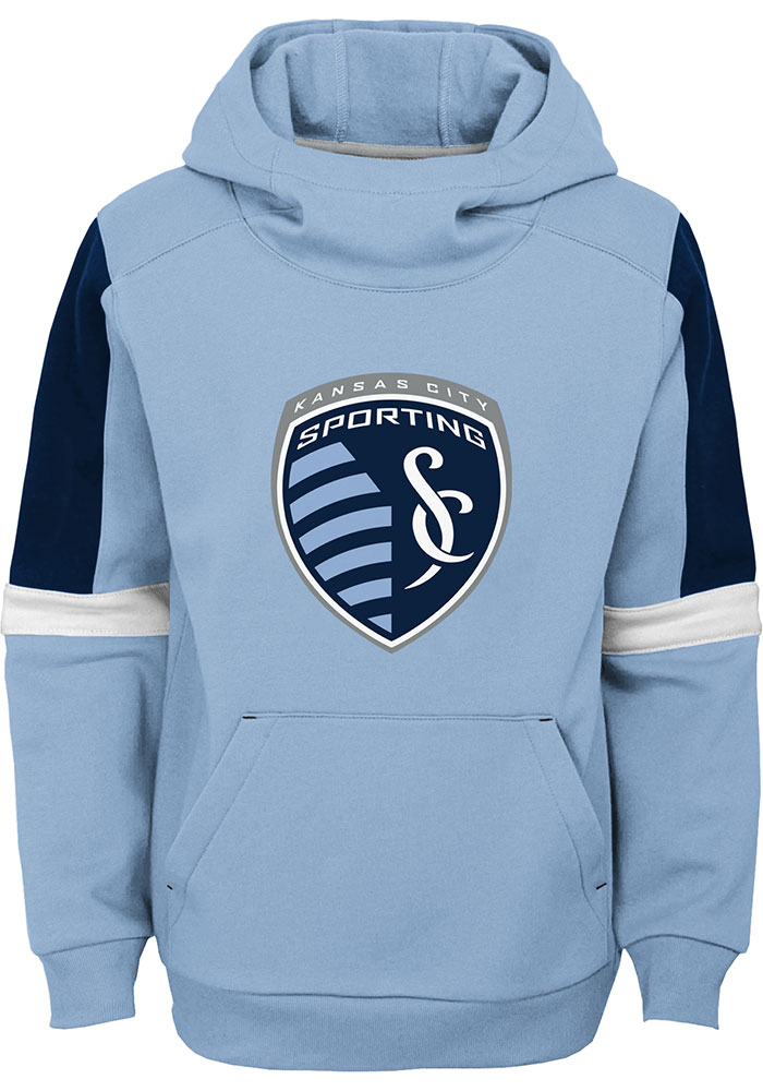 Sporting Kansas City Youth Light Blue Goalkeeper Long Sleeve Hoodie - Image 1