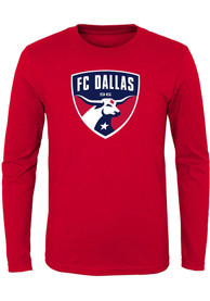 FC Dallas Youth Primary Logo T-Shirt - Red