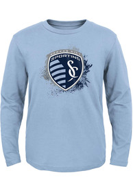 Sporting Kansas City Youth Splashin T-Shirt - Light Blue