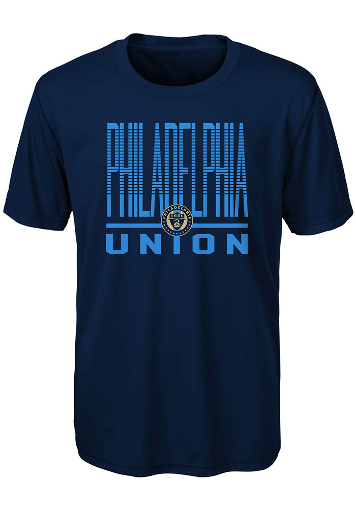 Philadelphia Union Youth Navy Blue Stand Tall Short Sleeve T-Shirt - Image 1