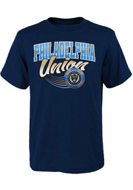 Philadelphia Union Boys Activate T-Shirt - Navy Blue
