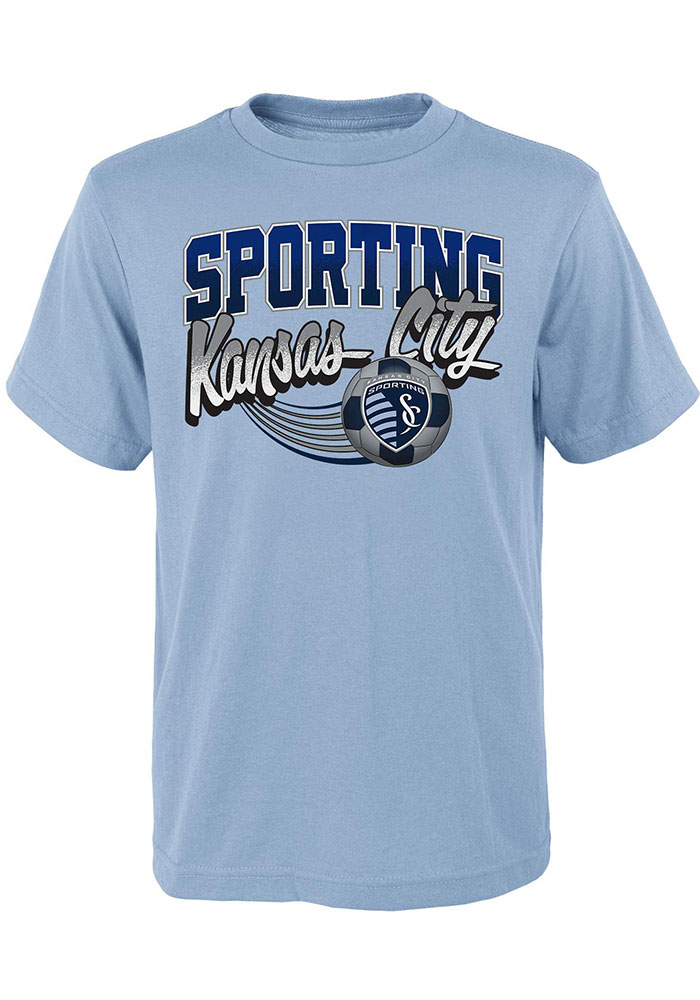 Sporting Kansas City Boys Light Blue Activate Short Sleeve T-Shirt - Image 1