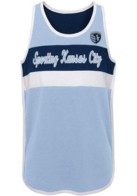 Sporting Kansas City Girls Game is in the Heart Tank Top - Light Blue