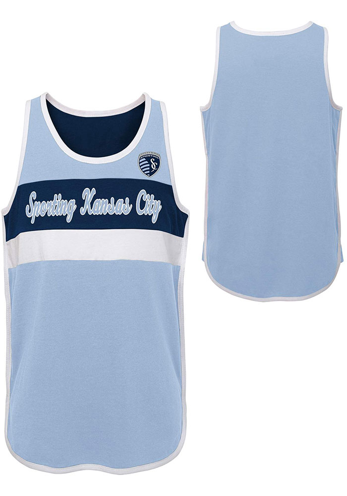 Sporting Kansas City Girls Light Blue Game is in the Heart Short Sleeve Tank Top - Image 3