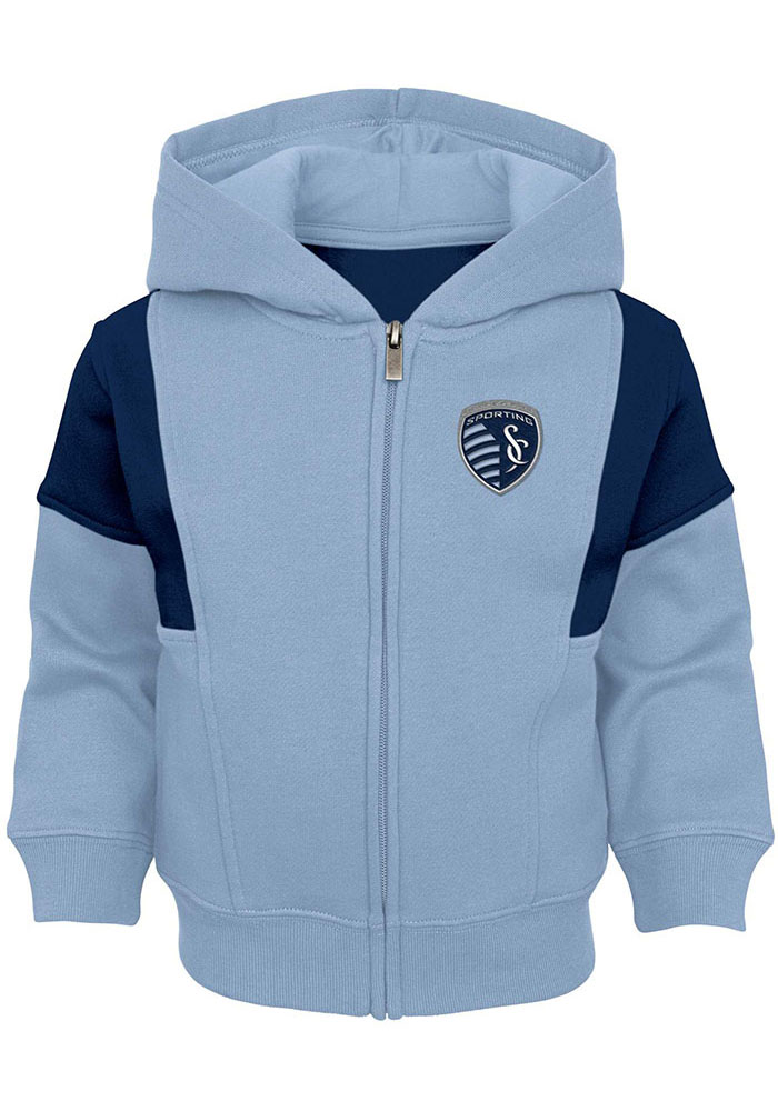 Sporting Kansas City Baby All That Full Zip Sweatshirt - Light Blue