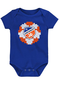 FC Cincinnati Baby 8-Bit Sport One Piece - Blue