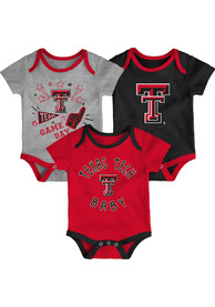 Texas Tech Red Raiders Baby Red Champ SS 3PK One Piece