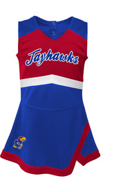 Kansas Jayhawks Toddler Girls Cheer Captain Cheer - Blue