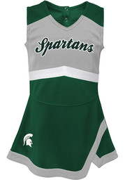Michigan State Spartans Toddler Girls Green Cheer Captain Sets Cheer