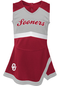 Oklahoma Sooners Toddler Girls Cheer Captain Cheer - Cardinal