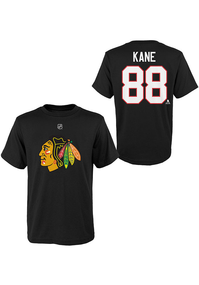 Chicago Blackhawks Youth Black Name and Number Player Tee - Image 1