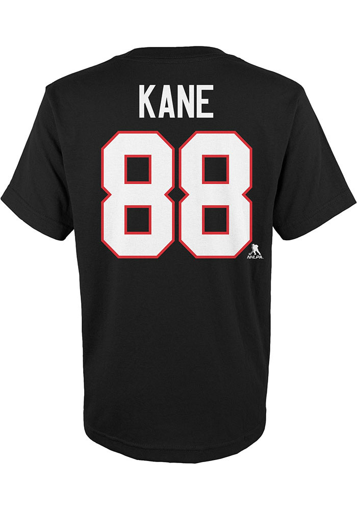 Chicago Blackhawks Youth Black Name and Number Player Tee - Image 3