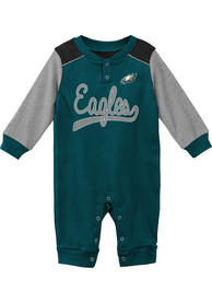 Philadelphia Eagles Baby Scrimmage One Piece - Midnight Green