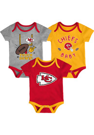 Kansas City Chiefs Baby Champ SS 3PK One Piece - Red