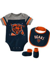 Chicago Bears Baby Tackle One Piece with Bib - Navy Blue