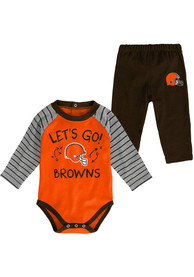 Cleveland Browns Infant Touchdown Top and Bottom - Brown